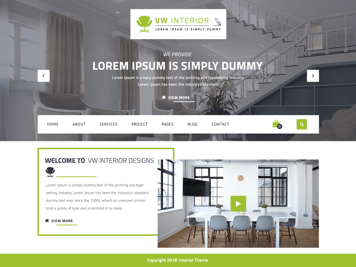 VW Interior Designs Is A Stylish, Stunning And Feature Rich Interior Design  WordPress Theme For Interior Designers, Home Decorators, Furniture Stores,  ...