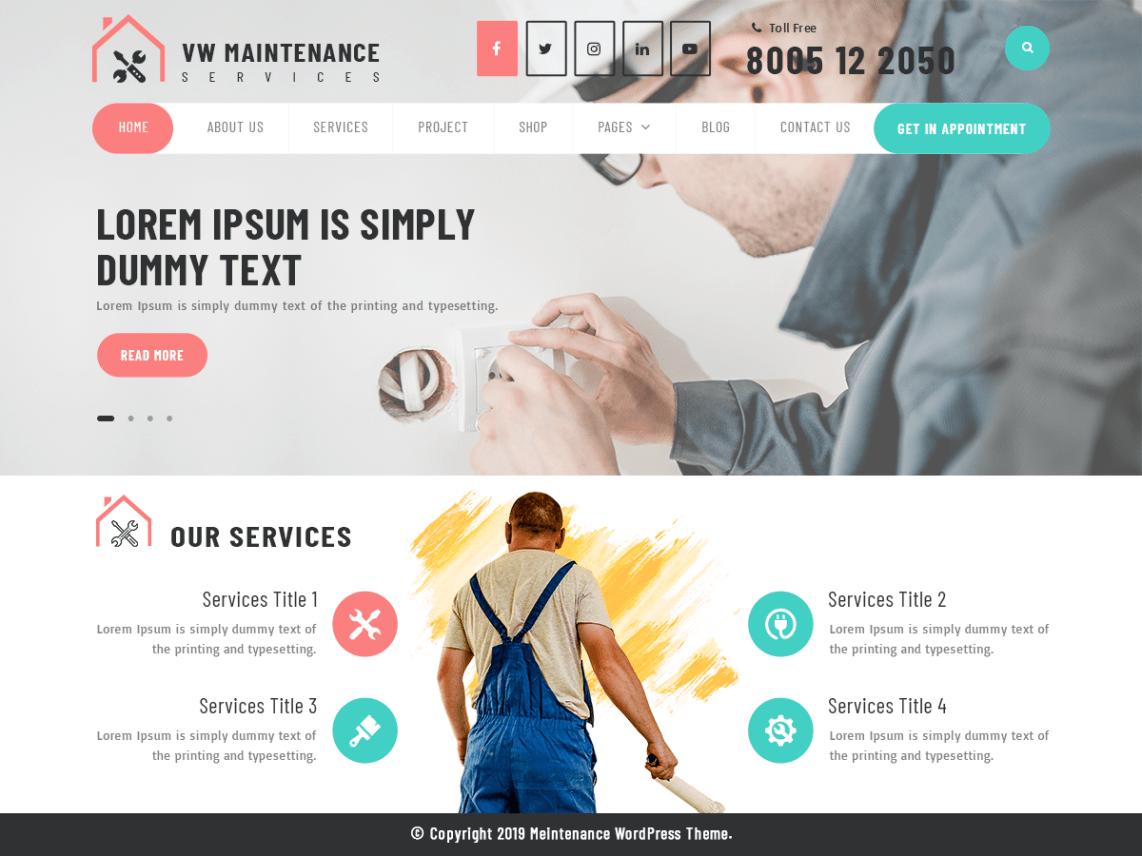 Electrician Website Template