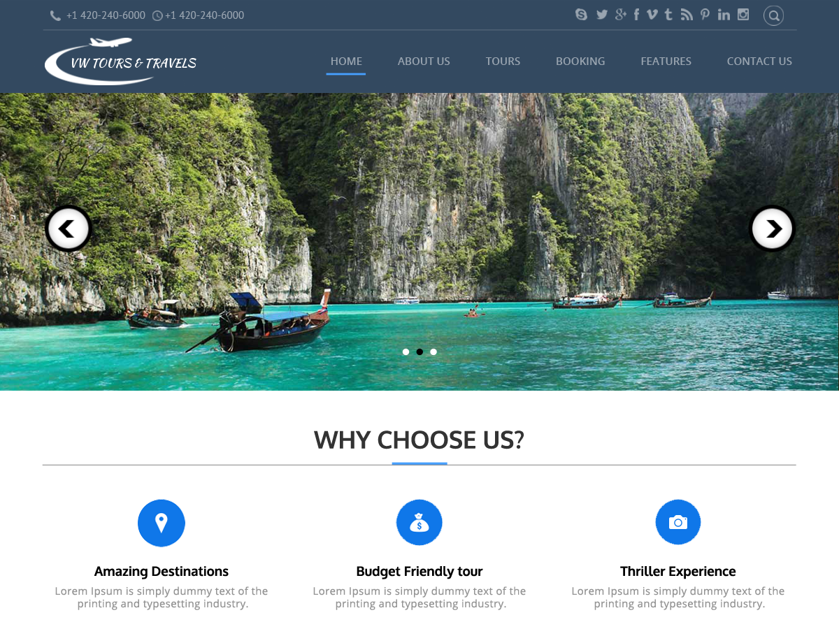 Theme directory free wordpress themes for Best travel booking website