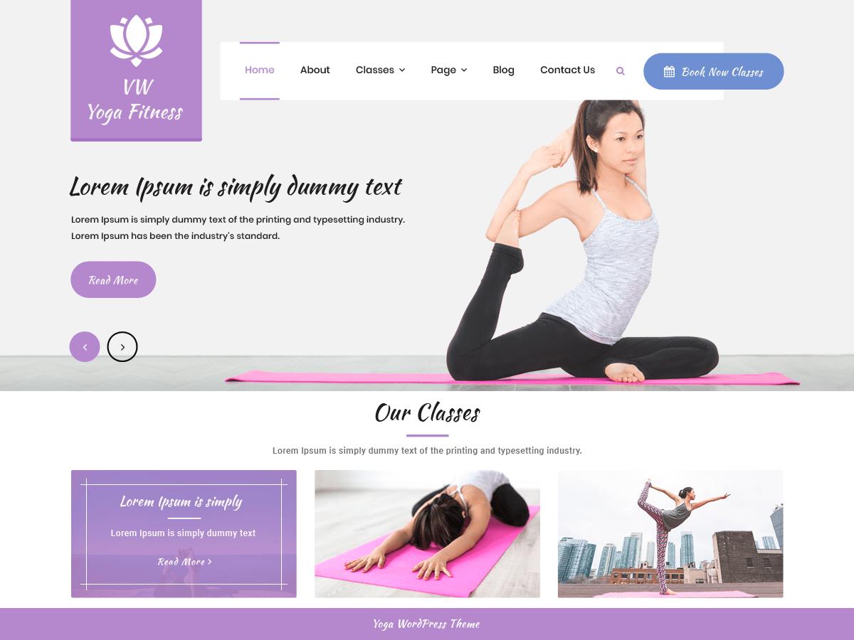 Vw Yoga Fitness Wordpress Theme Wordpress Org