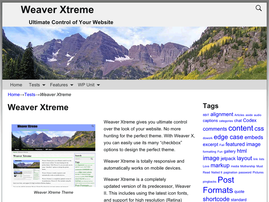 Weaver Xtreme free wordpress theme