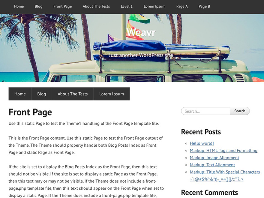 Weavr free wordpress theme