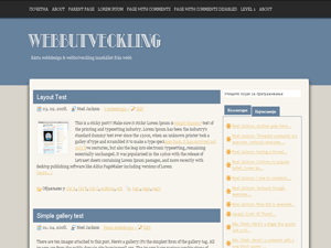 Webbutveckling free wordpress theme