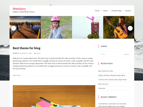 WebDiary wordpress theme