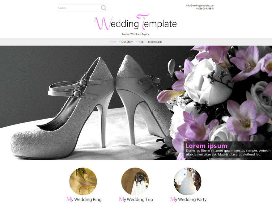 Wedding Style free wordpress theme