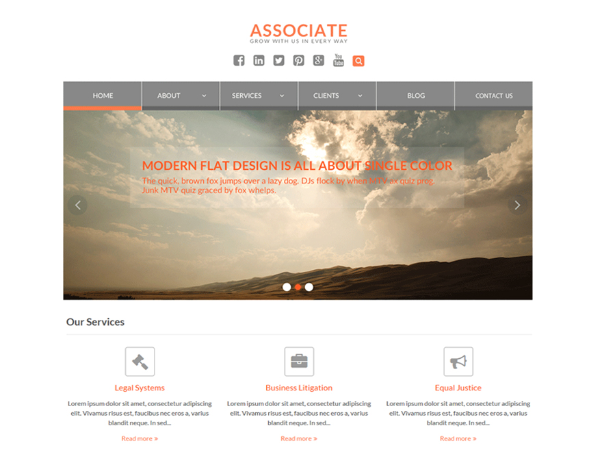 WEN Associate free wordpress theme