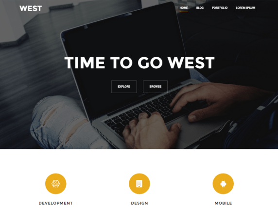 West wordpress theme