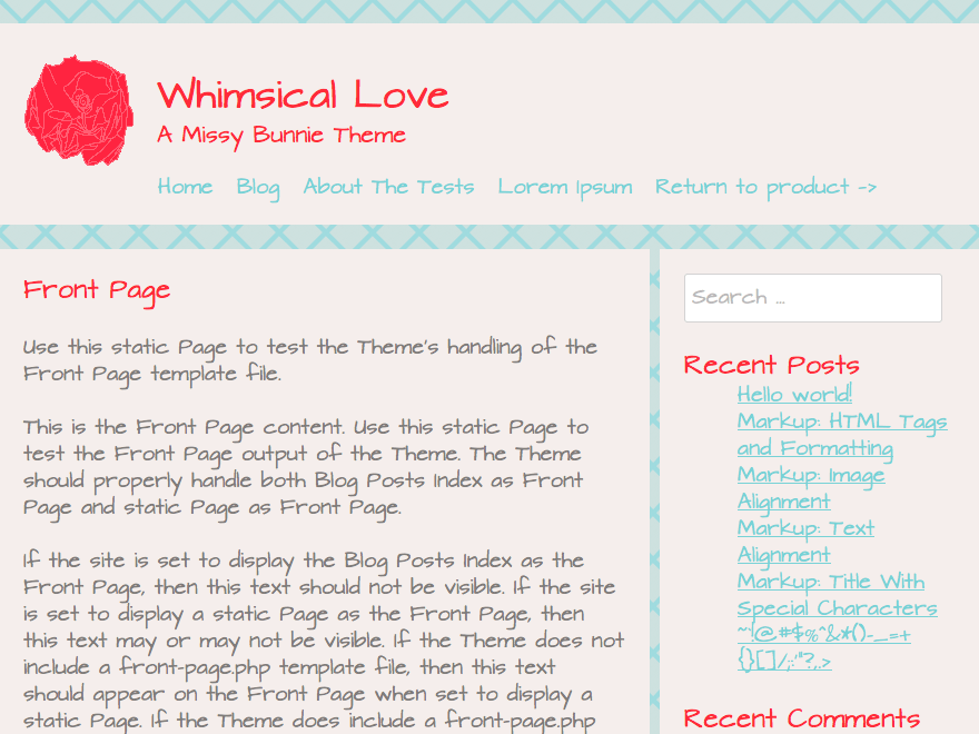 Whimsical Love free wordpress theme