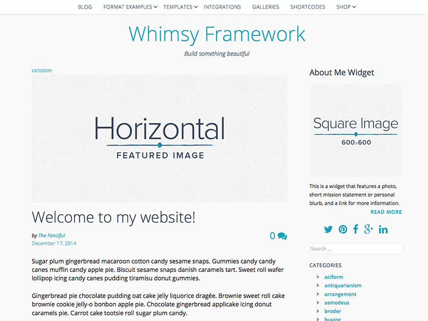 Whimsy Framework free wordpress theme