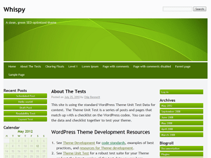 Whispy free wordpress theme