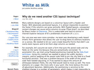White as Milk wordpress theme