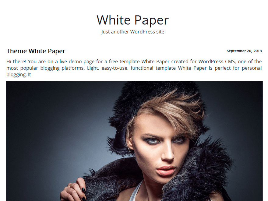 White Paper free wordpress theme