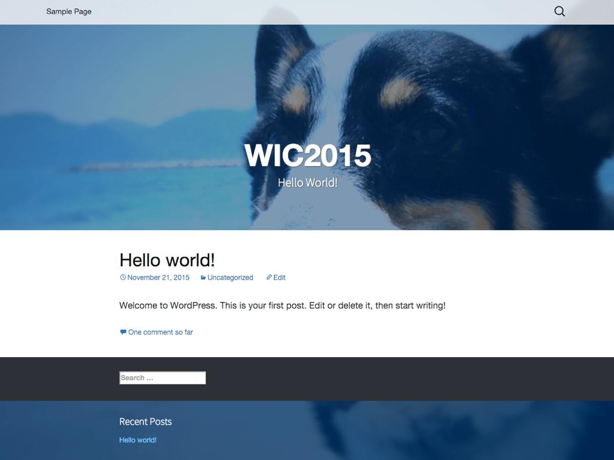 WIC2015 free wordpress theme