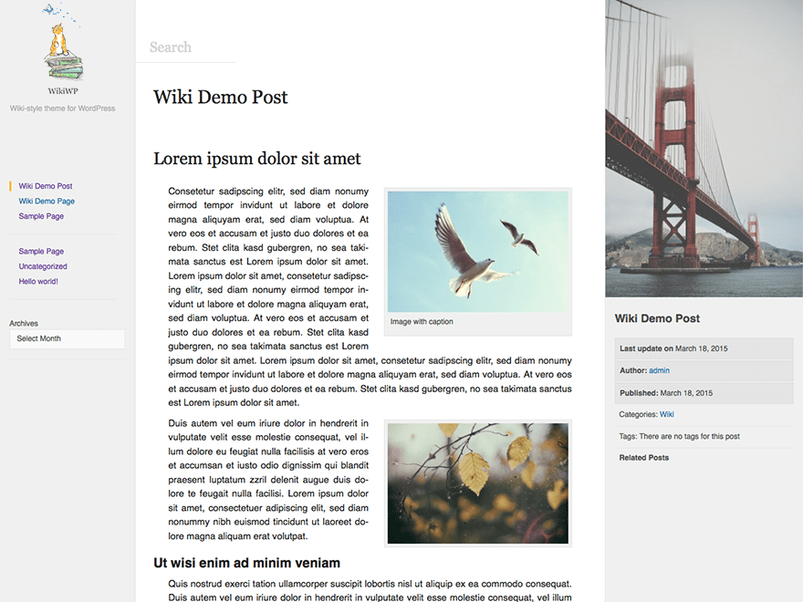 WikiWP free wordpress theme
