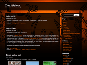 Wild Flower free wordpress theme