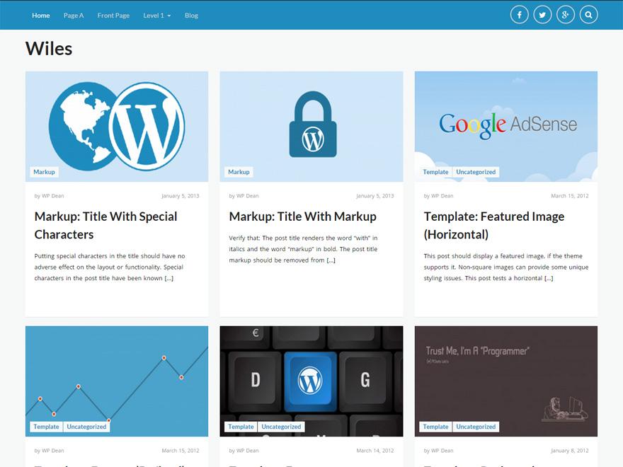 Wiles free wordpress theme