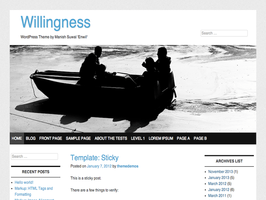 Willingness free wordpress theme