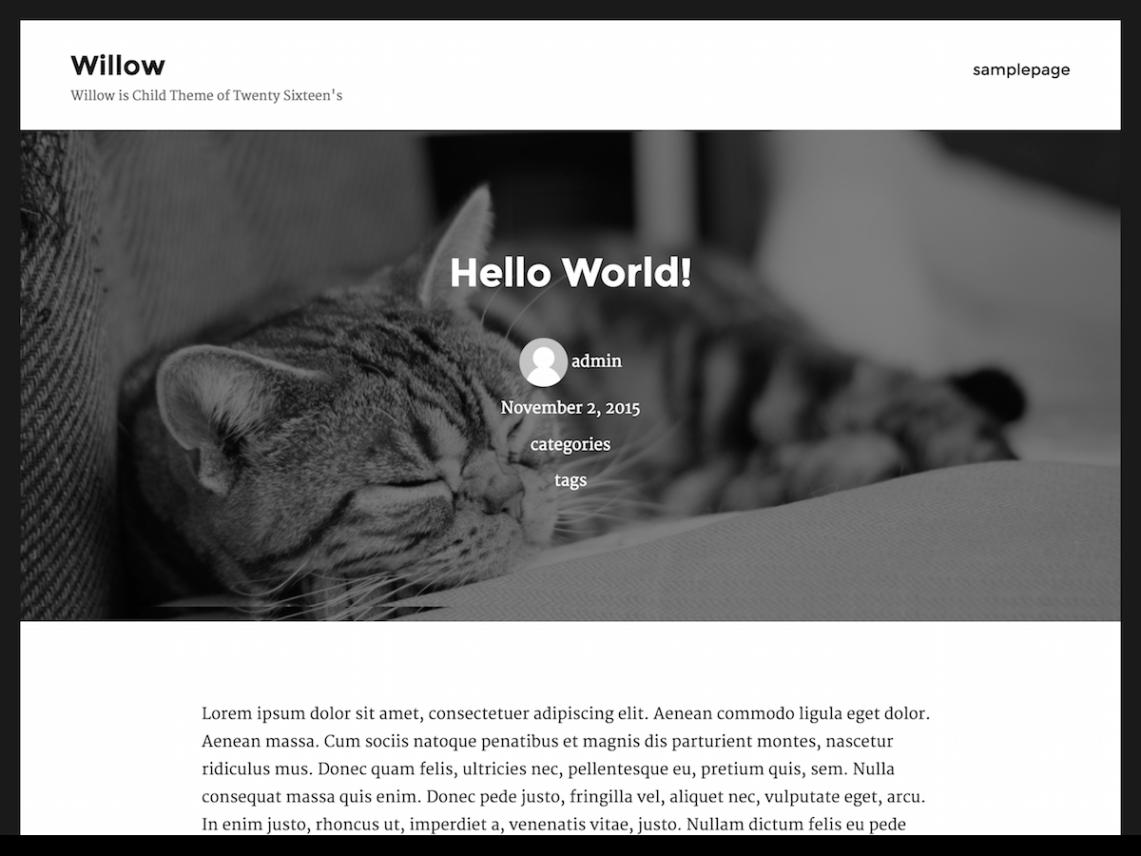 willow — Free WordPress Themes