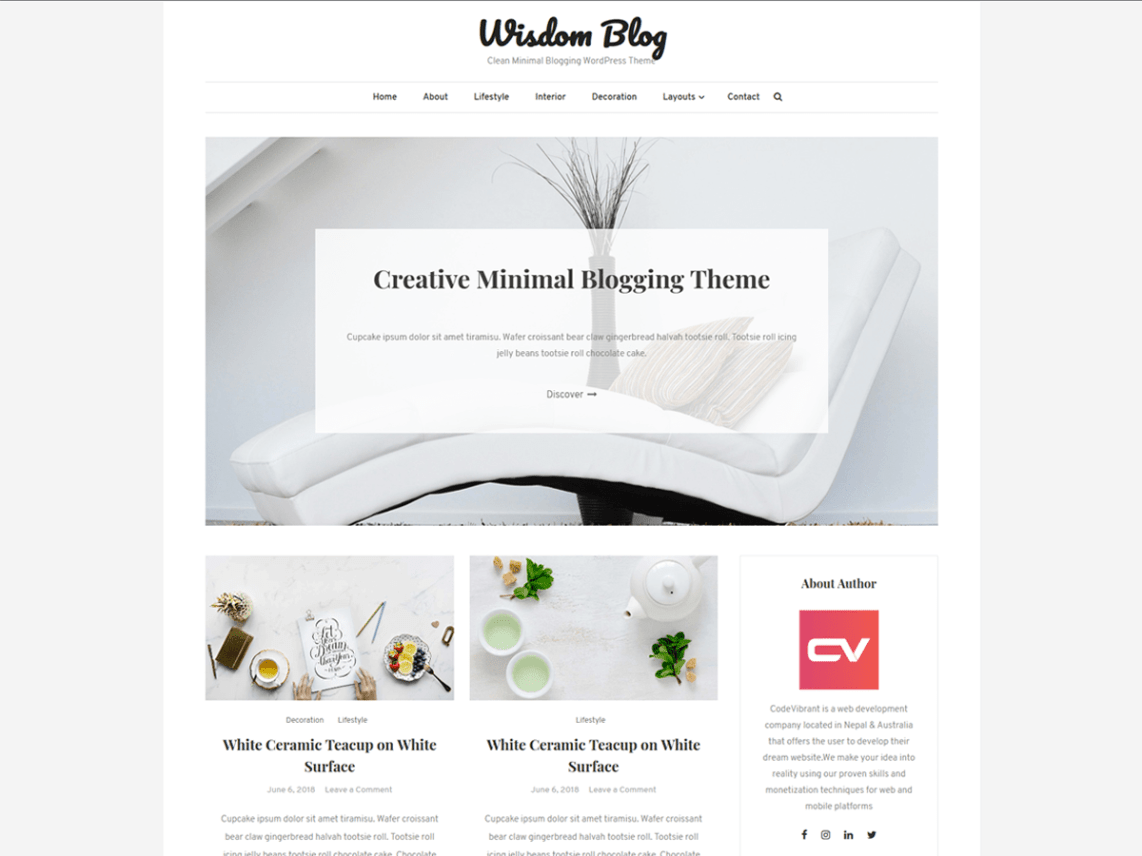 Wisdom Blog Theme Free Download