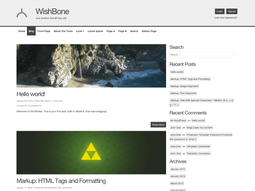 Wishbone free wordpress theme