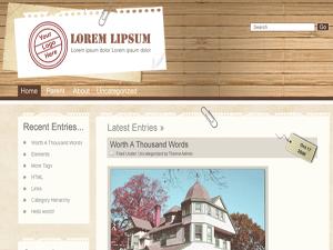 Wood is Good free wordpress theme