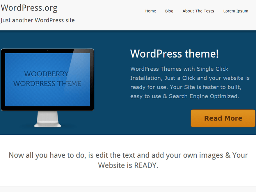 WoodBerry free wordpress theme