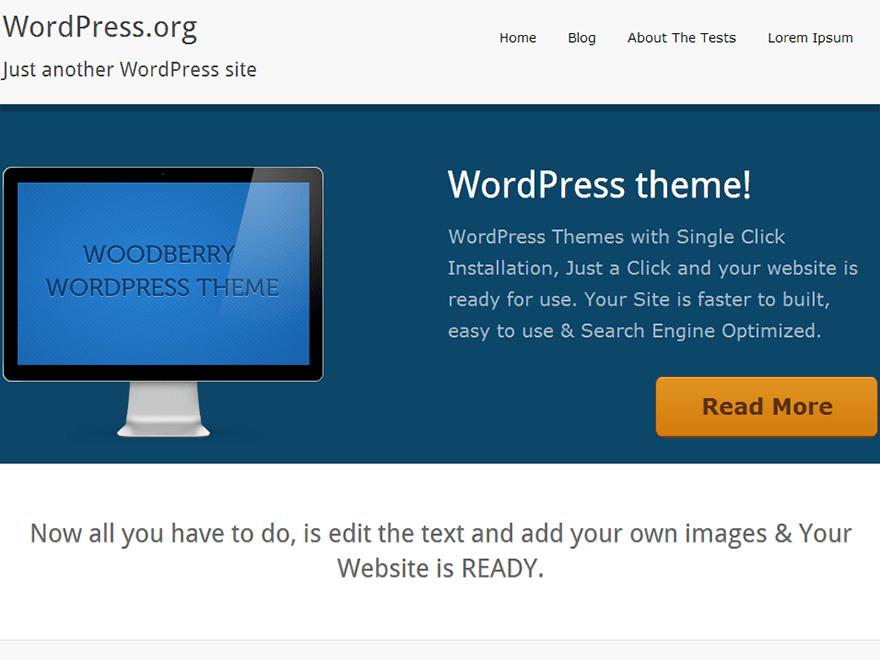 WoodBerry theme wordpress gratuit
