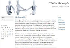 Wooden Mannequin free wordpress theme