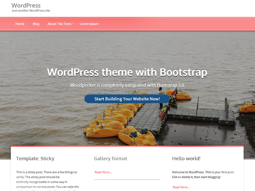 Woodpecker free wordpress theme