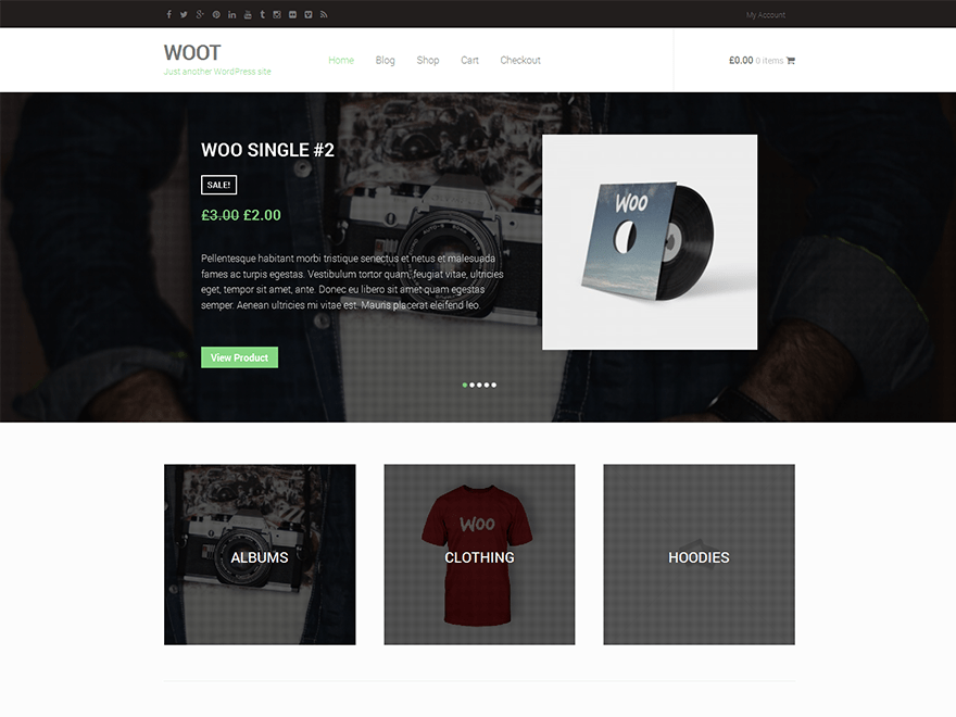 WOOT free wordpress theme