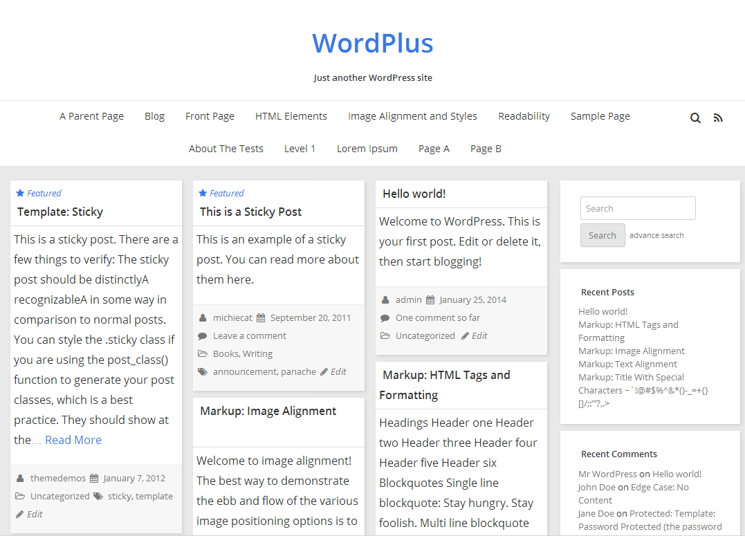 WordPlus theme wordpress gratuit