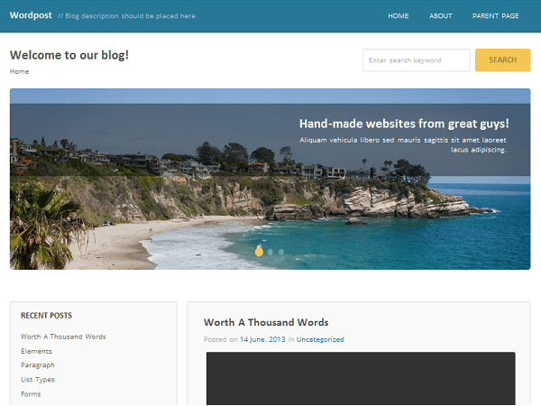 Wordpost free wordpress theme