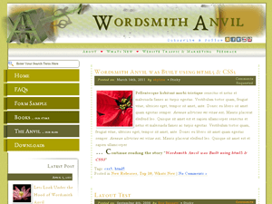 Wordsmith Anvil free wordpress theme