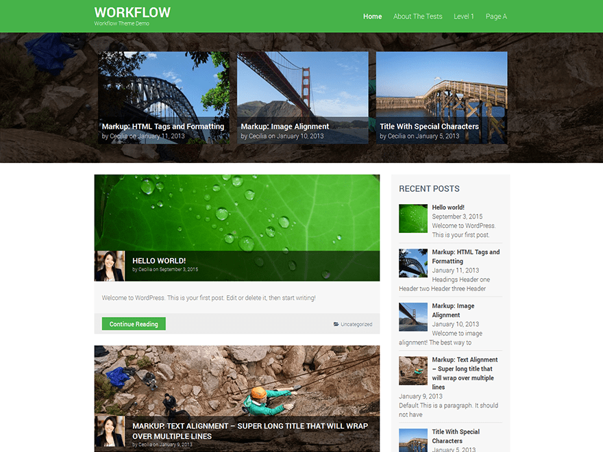 Workflow free wordpress theme