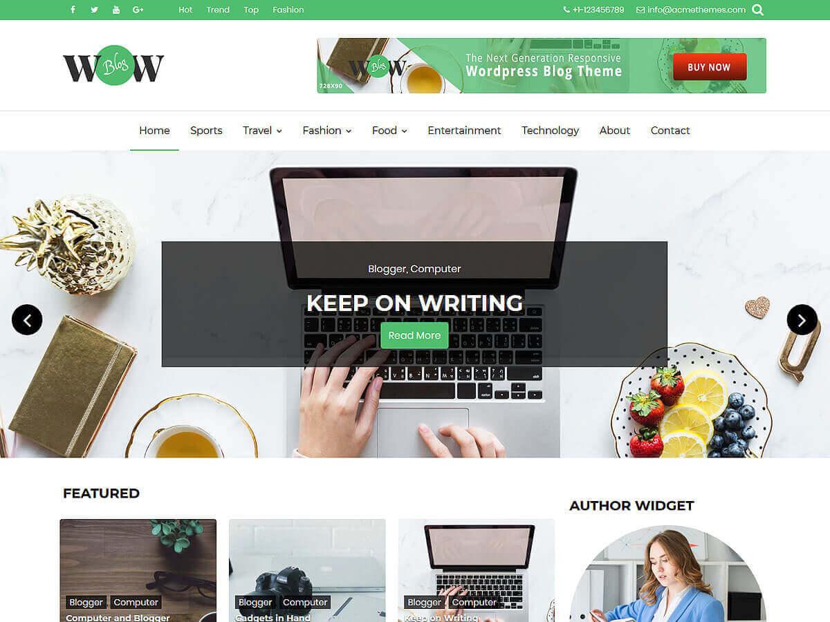 WordPress主题:WOW Blog