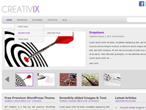 WP-Creativix free wordpress theme