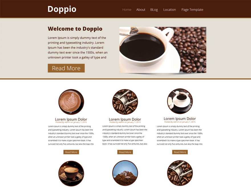 WP Doppio free wordpress theme