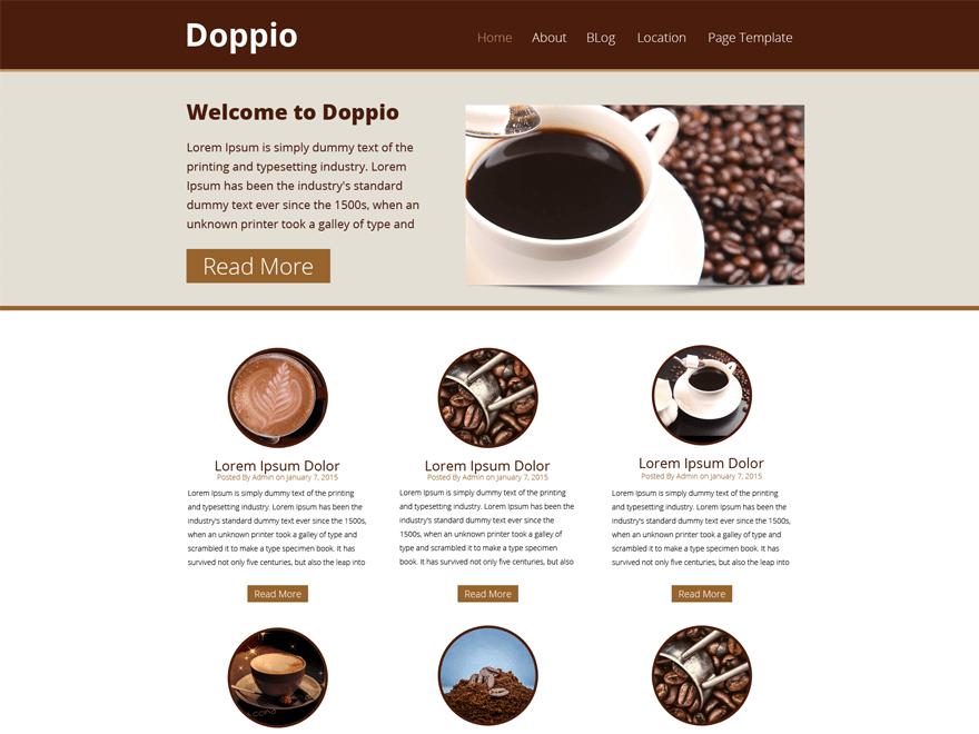 WP Doppio free wordpress theme