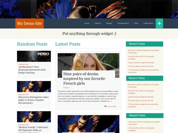 WP FlatThirteen theme wordpress gratuit
