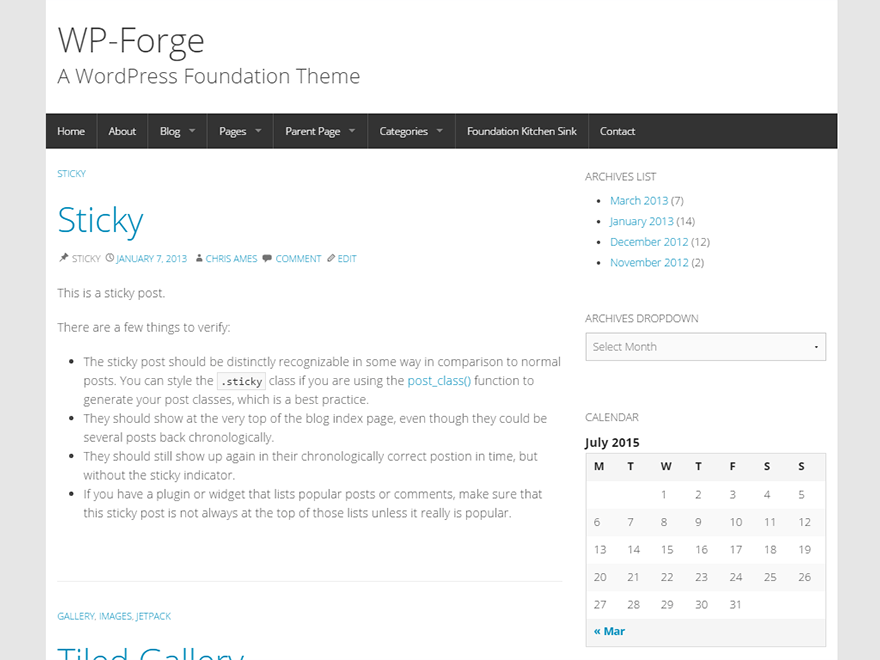 WP-Forge free wordpress theme