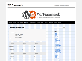 WP Framework free wordpress theme