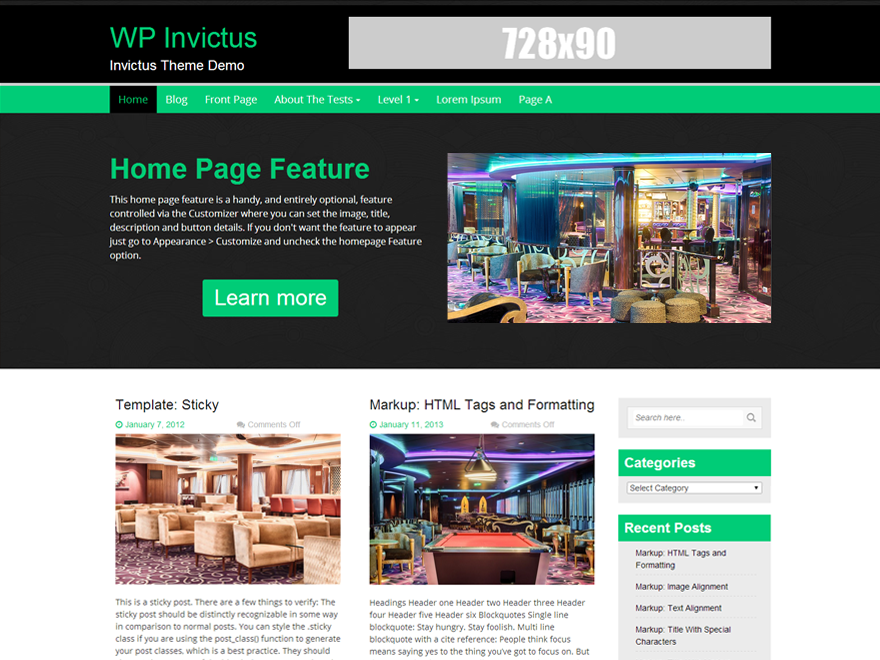 WP Invictus free wordpress theme