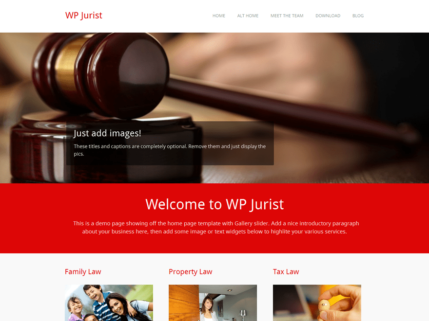 WP Jurist free wordpress theme