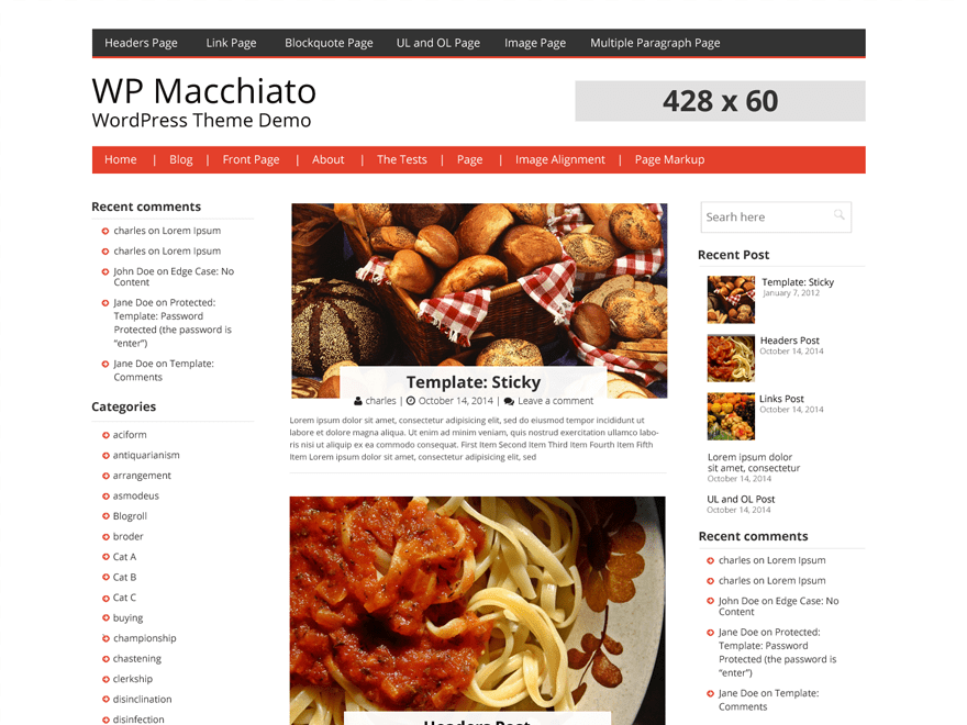 WP Macchiato free wordpress theme