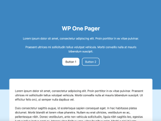 WP One Pager