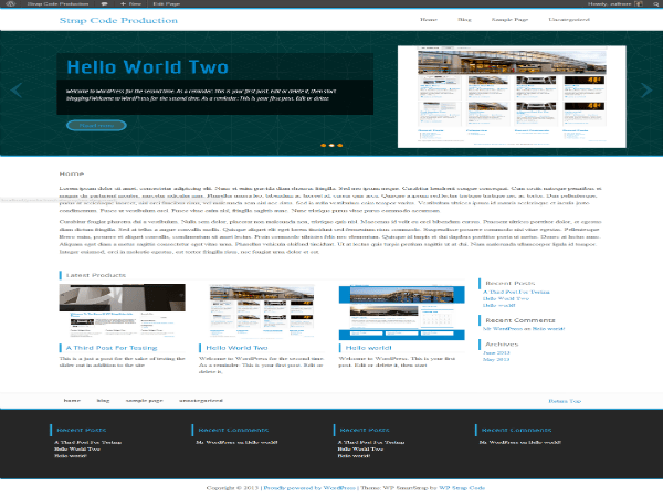 WP ParaStrap free wordpress theme