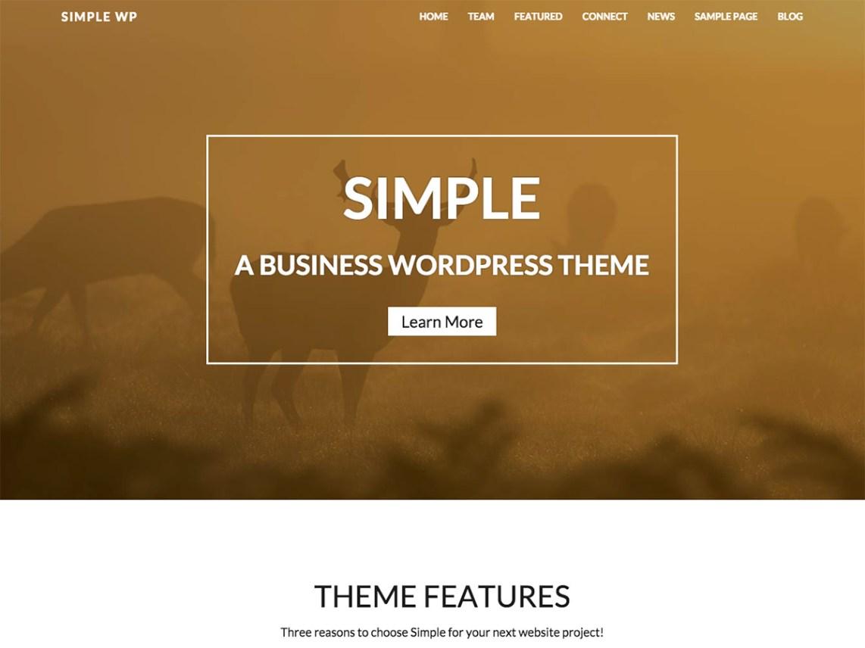 WP-SIMPLE Business, Portfolio, Biographie, Blog