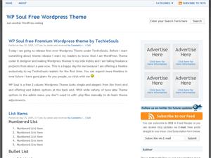 WP Soul free wordpress theme