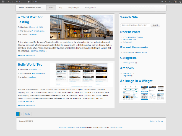 WP StrapBlogger Lite free wordpress theme