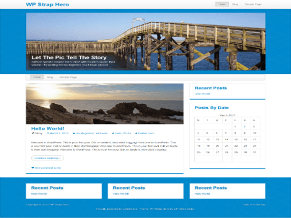 WP StrapHero wordpress theme